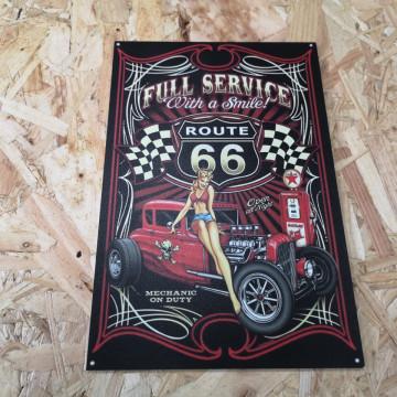 Placa Decorativa em PVC - Route 66 Full Service