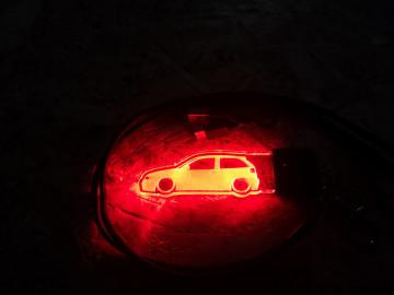 Porta Chaves com luz Multicor com Seat Ibiza 6k