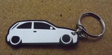 Porta Chaves com silhueta de Opel Corsa C - 3 Portas