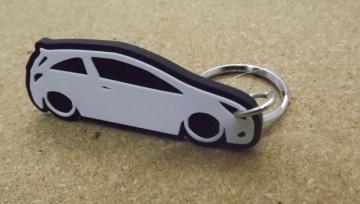 Porta Chaves com silhueta de Opel Corsa D - 3 Portas