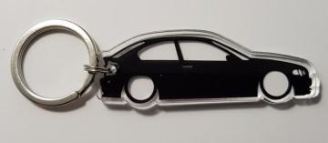 Porta Chaves de Acrílico com silhueta de BMW E46 Compact