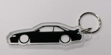 Porta Chaves de Acrílico com silhueta de Nissan 240SX