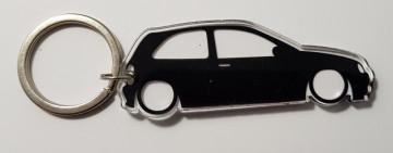 Porta Chaves de Acrílico com silhueta de Opel Corsa B