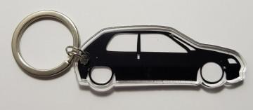 Porta Chaves de Acrílico com silhueta de Peugeot 106