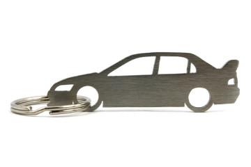 Porta Chaves em inox com silhueta com Mitsubishi EVO IX