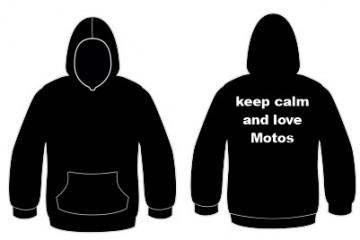 Sweatshirt com capuz - Keep calm and love motos