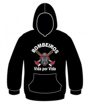 Sweatshirt com capuz para Bombeiros Vida por Vida