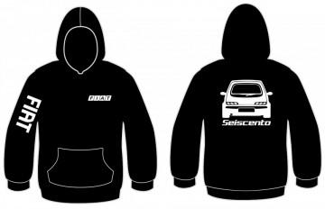 Sweatshirt com capuz para Fiat Seiscento