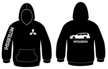 Sweatshirt com capuz para Mitsubishi Galant