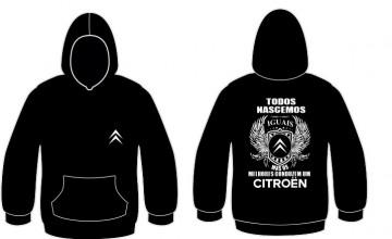 Sweatshirt com capuz Todos Nascemos (Citroen)