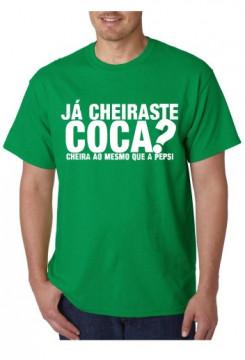 T-shirt  - Já Cheiras-te Coca?