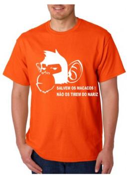 T-shirt  - Salvem os Macacos, Não os tirem do nariz