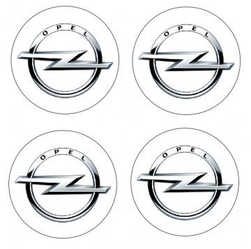 4 Autocolantes Para Centros de Jantes com Opel