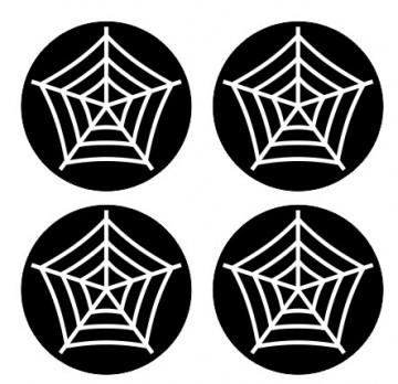 4 Autocolantes Para Centros de Jantes com Teia de aranha