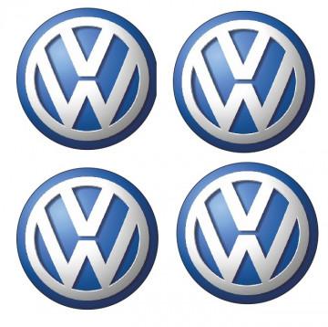 4 Autocolantes Para Centros de Jantes com Volkswagen
