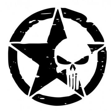 Autocolante - Army caveira