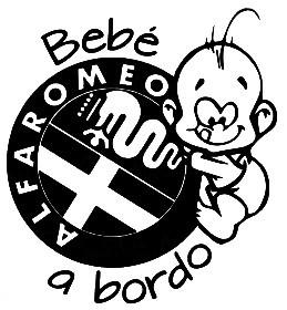 Autocolante - Bebé a bordo - Alfa Romeo