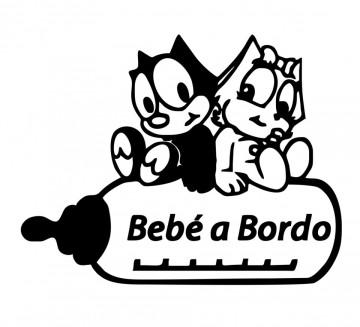 Autocolante - Bebé a bordo - Gatos