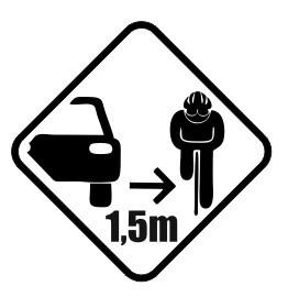 Autocolante - Carro + Ciclista