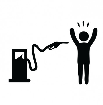 Autocolante com Assalto de combustível