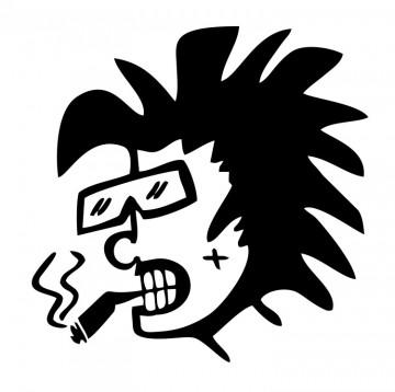 Autocolante com Boneco Fuma