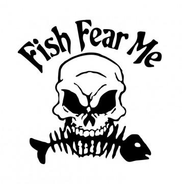 Autocolante com Fish fear me