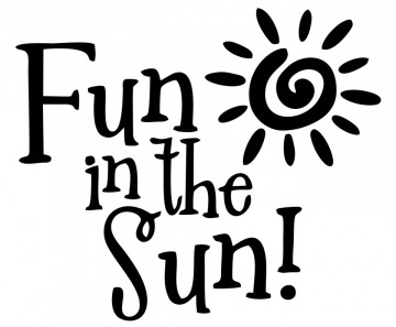 Autocolante com Fun is the sun