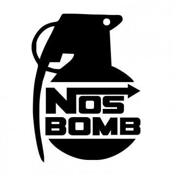 Autocolante com Nos Bomb