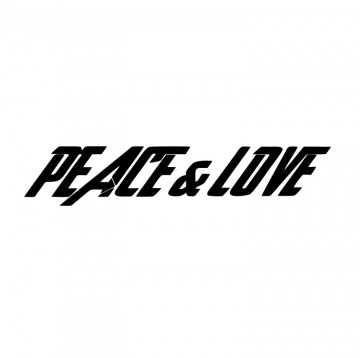 Autocolante com Peace & Love