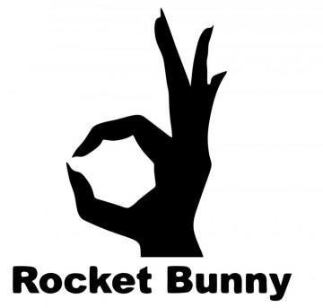 Autocolante com rocket bunny
