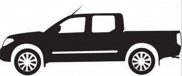 Autocolante com Toyota Hillux