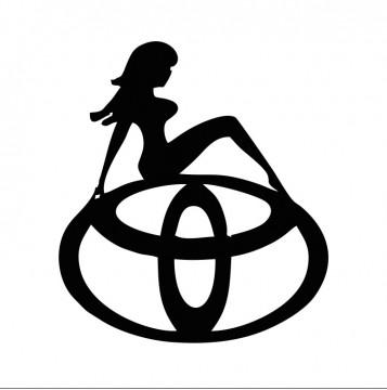 Autocolante com Toyota mulher