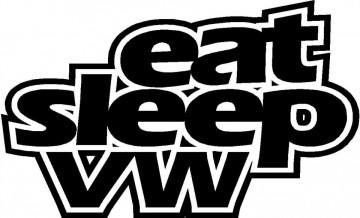 Autocolante - Eat Sleep VW