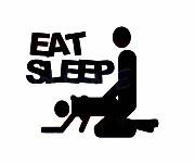 Autocolante - Eat Sleep