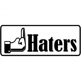 Autocolante - f* Haters