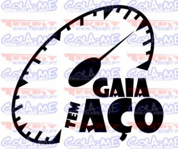 Autocolante - Gaia tem aço