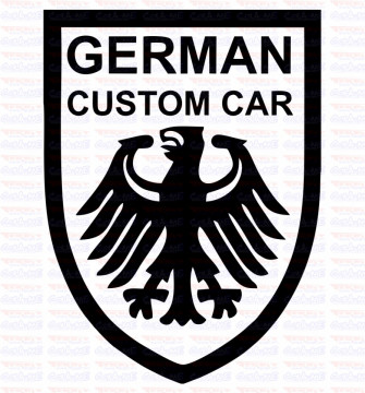 Autocolante - German Custom Car