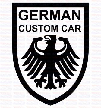 Autocolante - German Custom Car
