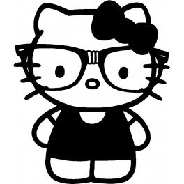 Autocolante - Hello Kitty Nerd
