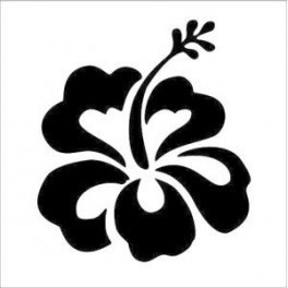 Autocolante - Hibiscus-Flor Havaiana