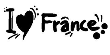 Autocolante - I love France