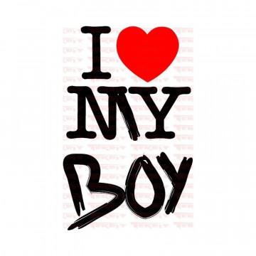 Autocolante - I Love My Boy