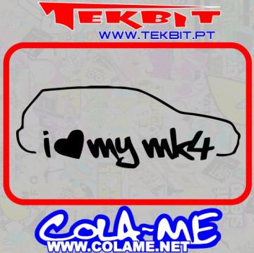 Autocolante - I love my MK4