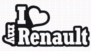 Autocolante - I Love My Renault