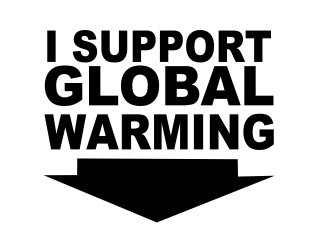 Autocolante - I support global warming