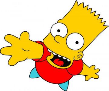 Autocolante Impresso - Bart 01 - Simpsons