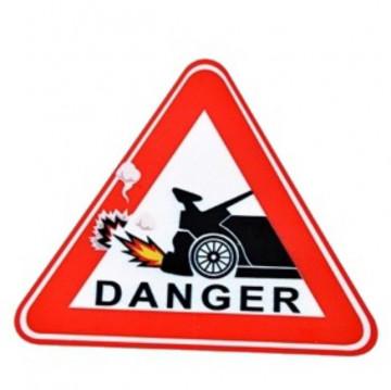 Autocolante Impresso - Danger