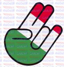 Autocolante Impresso - Mão JDM Italia