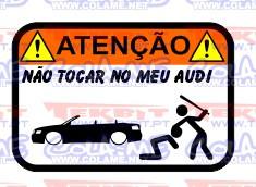 Autocolante Impresso - Não tocar no meu Audi A4 B6 Cabrio