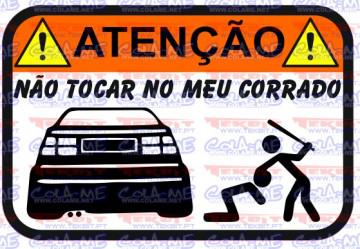 Autocolante Impresso - Não tocar no meu Corrado